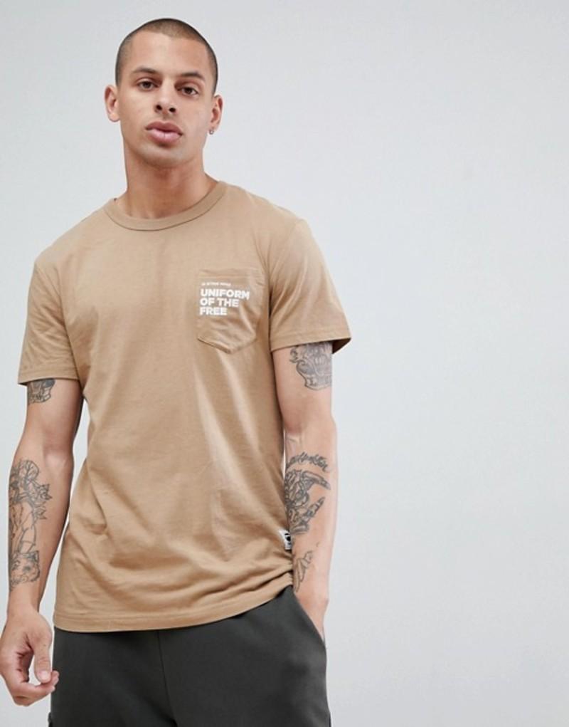 ジースター メンズ Tシャツ トップス G-Star uniform of the free t-shirt in tan Atacama