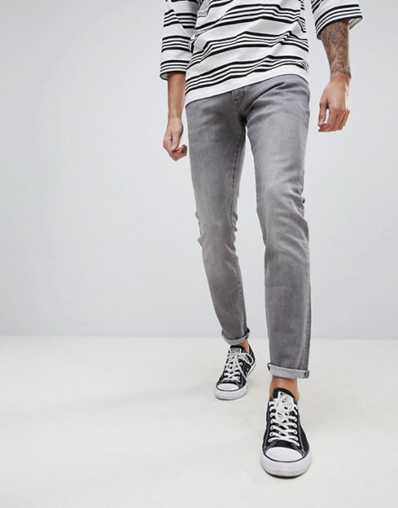 ジースター メンズ デニムパンツ ボトムス G-Star 3301 Deconstructed Super Slim Jeans Gray Grey