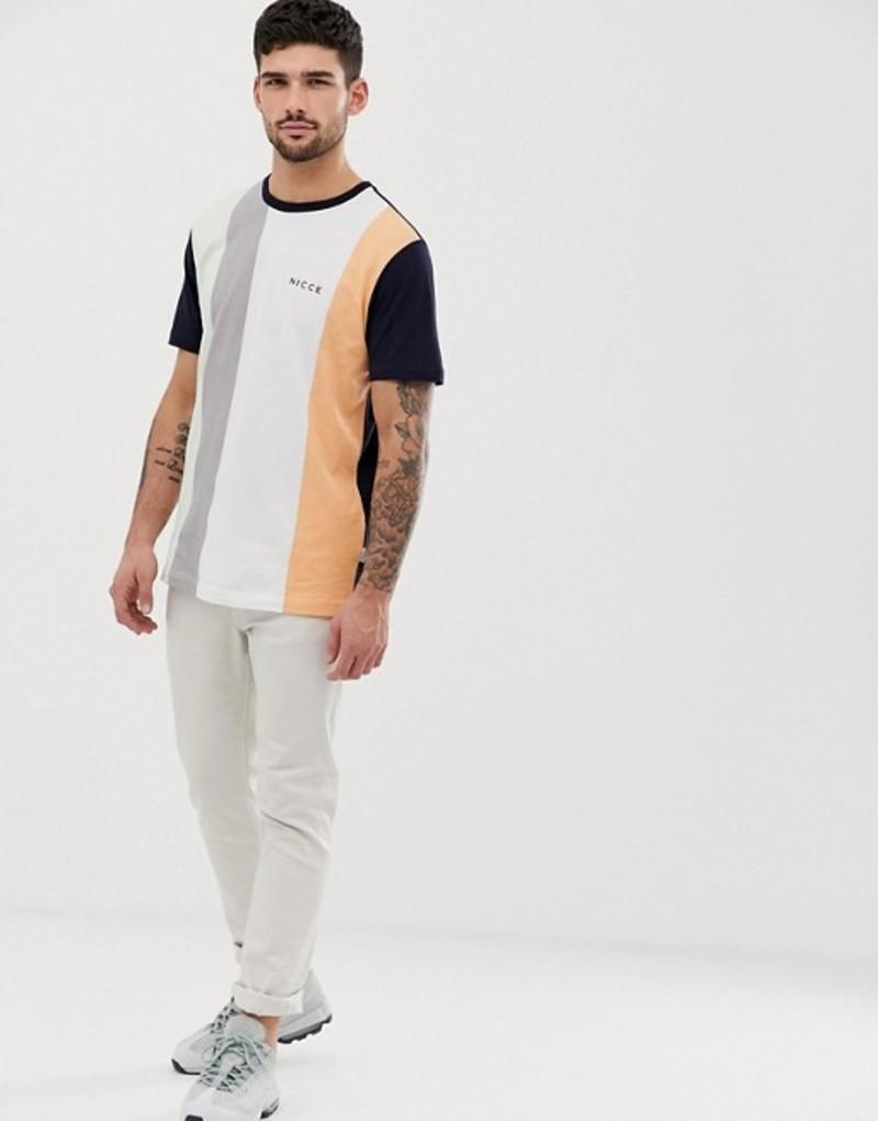 ニースロンドン メンズ Tシャツ トップス Nicce stripe t-shirt in navy Navy
