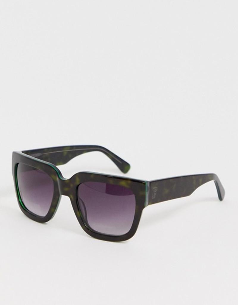 フレンチコネクション レディース サングラス・アイウェア アクセサリー French Connection flat top square sunglasses Black