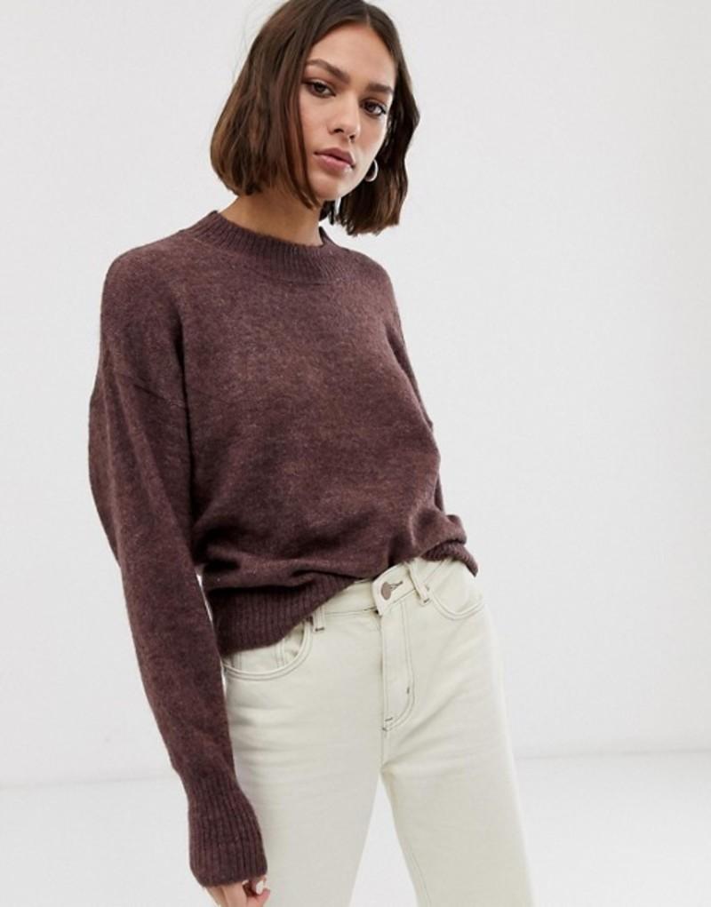 イチ レディース ニット・セーター アウター Ichi High Neck Sweater Mlg fudge