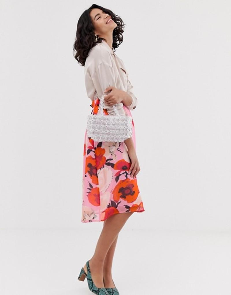 ゲタス レディース スカート ボトムス Gestuz Violetta floral print midi skirt Pink flower
