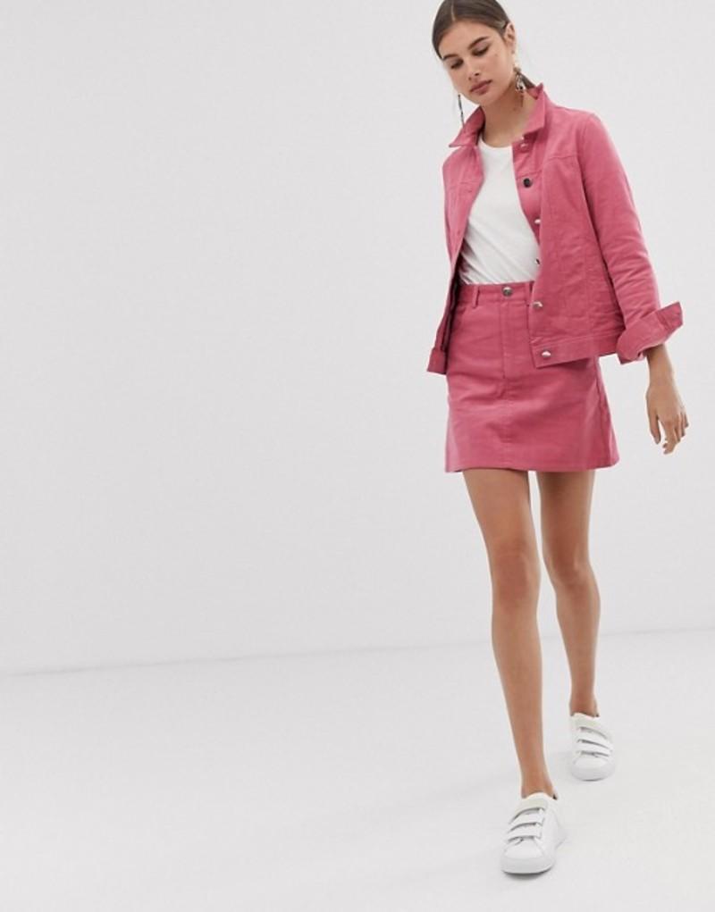 ユニークトゥエンティワン レディース スカート ボトムス Unique21 two-piece mini skirt Pink