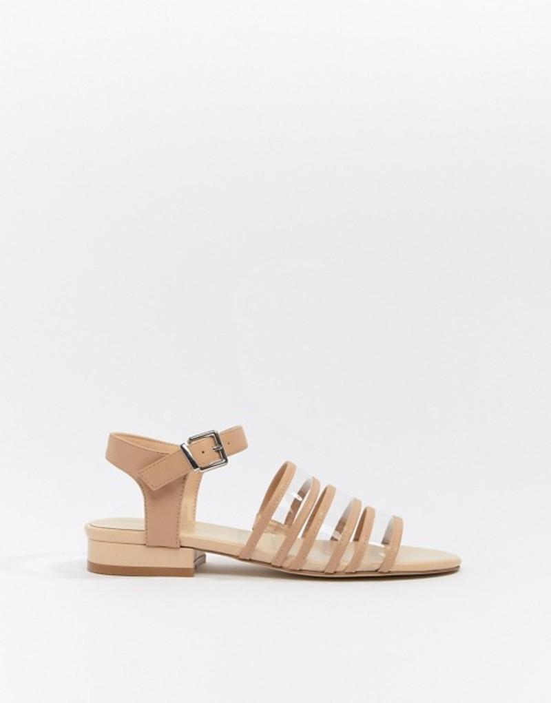 セントサナ レディース サンダル シューズ St Sana clear flat sandals Beige