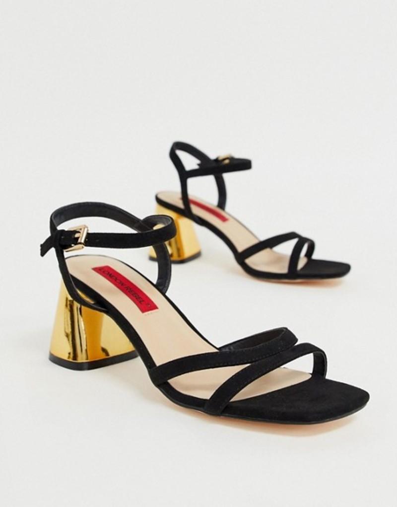 ロンドンレベル レディース サンダル シューズ London Rebel kitten heel sandals Black