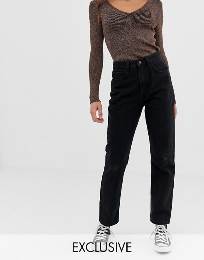 リクレイム ヴィンテージ レディース デニムパンツ ボトムス Reclaimed Vintage The '91 mom jean in washed black Washed black