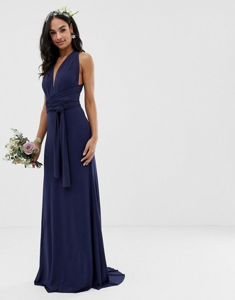 ティエフエヌシー レディース ワンピース トップス TFNC bridesmaid exclusive multiway maxi dress in navy Navy