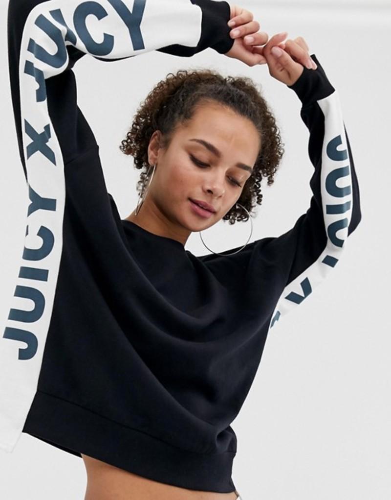 ジューシークチュール レディース パーカー・スウェット アウター Juicy By Juicy Couture sweatshirt with side panel logo two-piece Pitch black