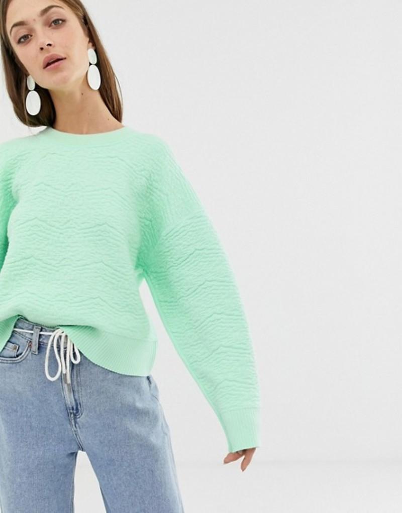 エイソス レディース ニット・セーター アウター ASOS WHITE textured knitted sweater Mint