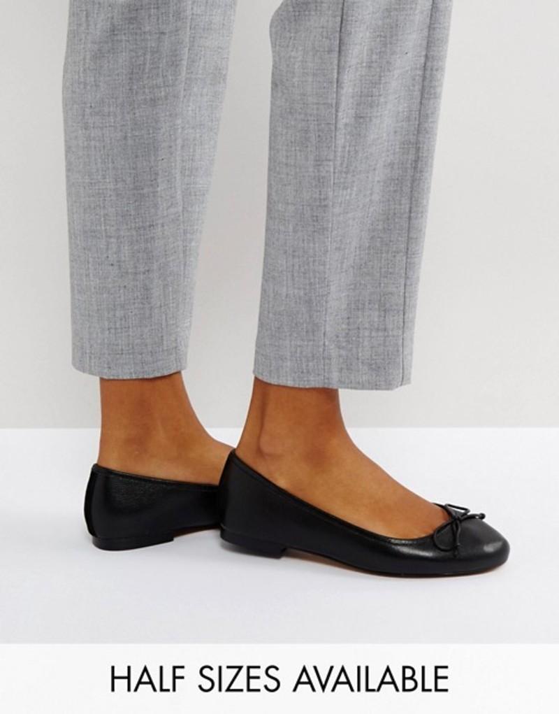 エイソス レディース パンプス シューズ ASOS LIFESAVER Leather Ballet Flats Black