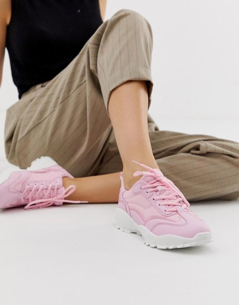 エイソス レディース スニーカー シューズ ASOS DESIGN Dominic chunky sneakers Pink
