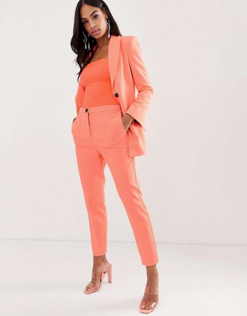 エイソス レディース カジュアルパンツ ボトムス ASOS DESIGN fluro pink slim suit pants Fluro pink