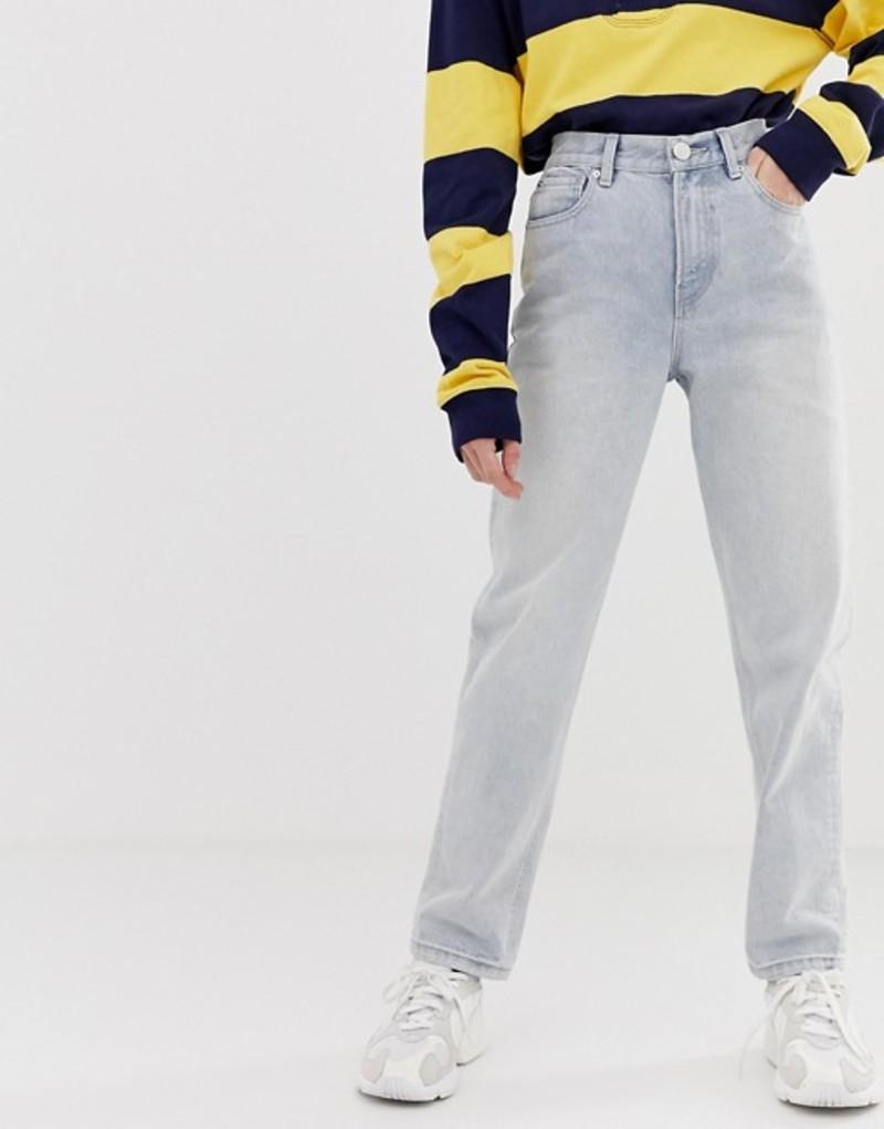 エイソス レディース デニムパンツ ボトムス ASOS DESIGN relaxed leg boyfriend jeans in bleached blue wash with bum rip detail Bleached out blue