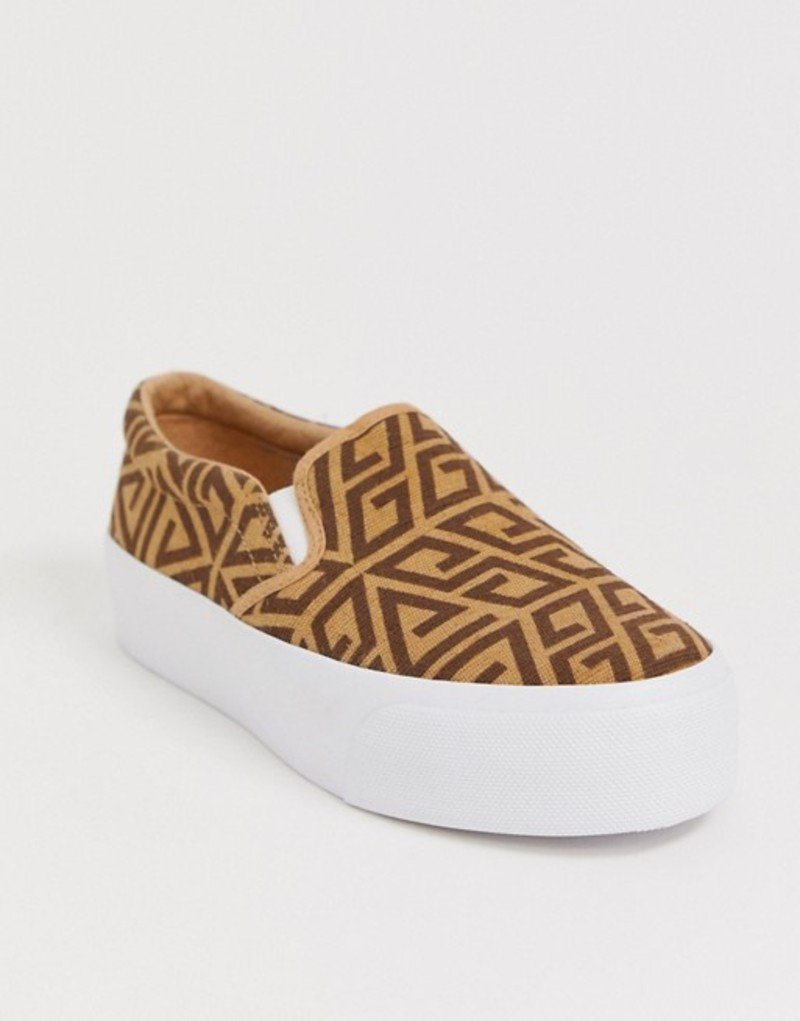 エイソス レディース スニーカー シューズ ASOS DESIGN Deacon chunky slip on plimsolls Multi print