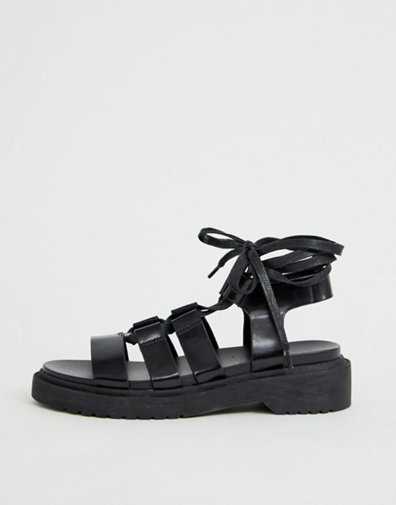 エイソス レディース サンダル シューズ ASOS DESIGN Face Off chunky flat sandals Black