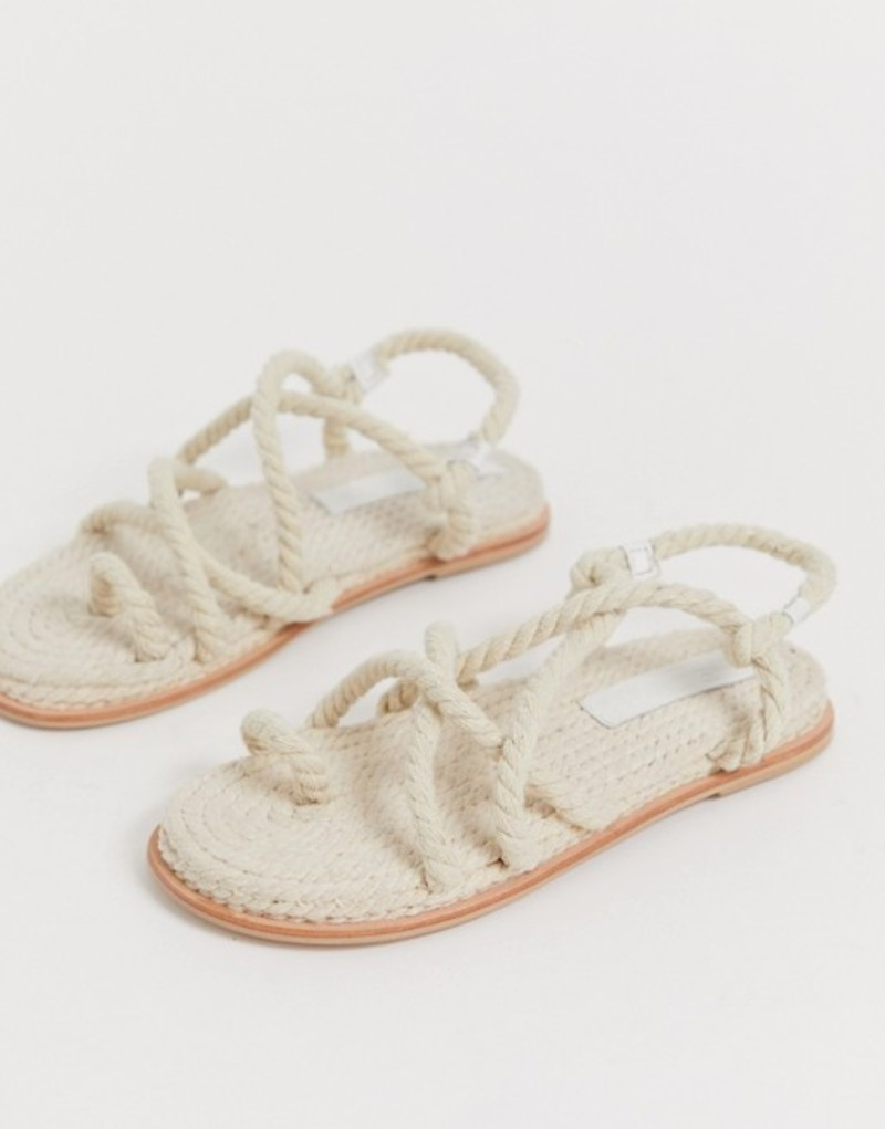 エイソス レディース サンダル シューズ ASOS DESIGN Foxx premium chunky rope sandals Natural