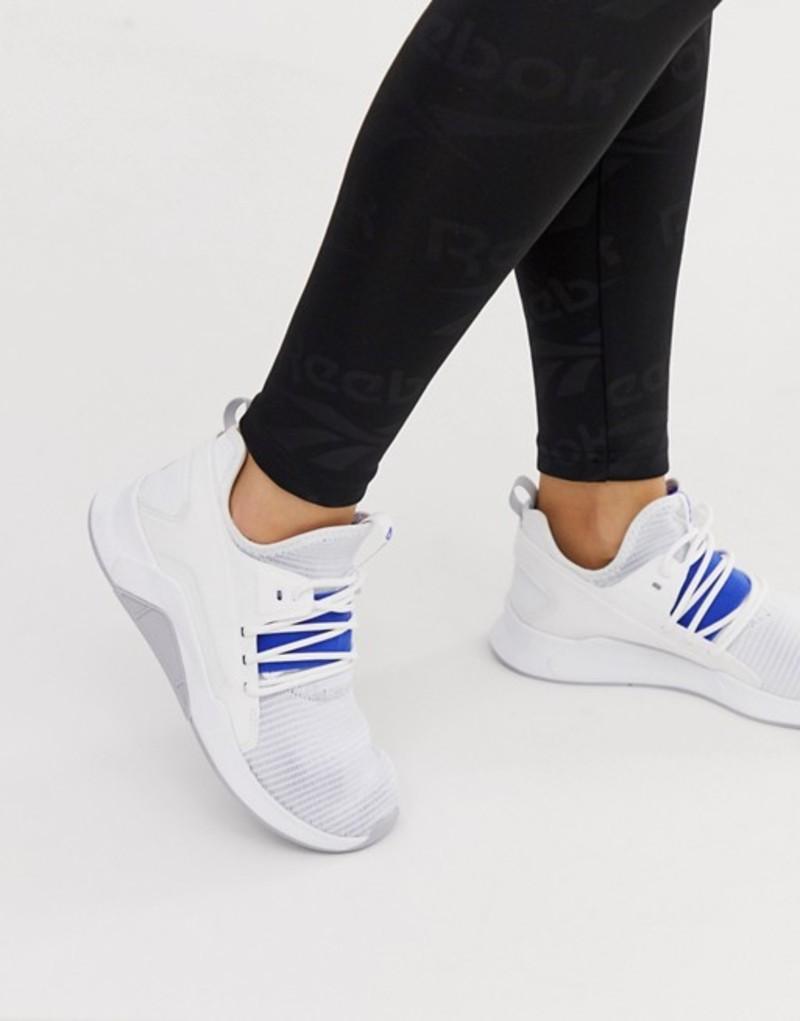 リーボック レディース スニーカー シューズ Reebok Training guresu sneakers in white and blue White/crushed cobalt