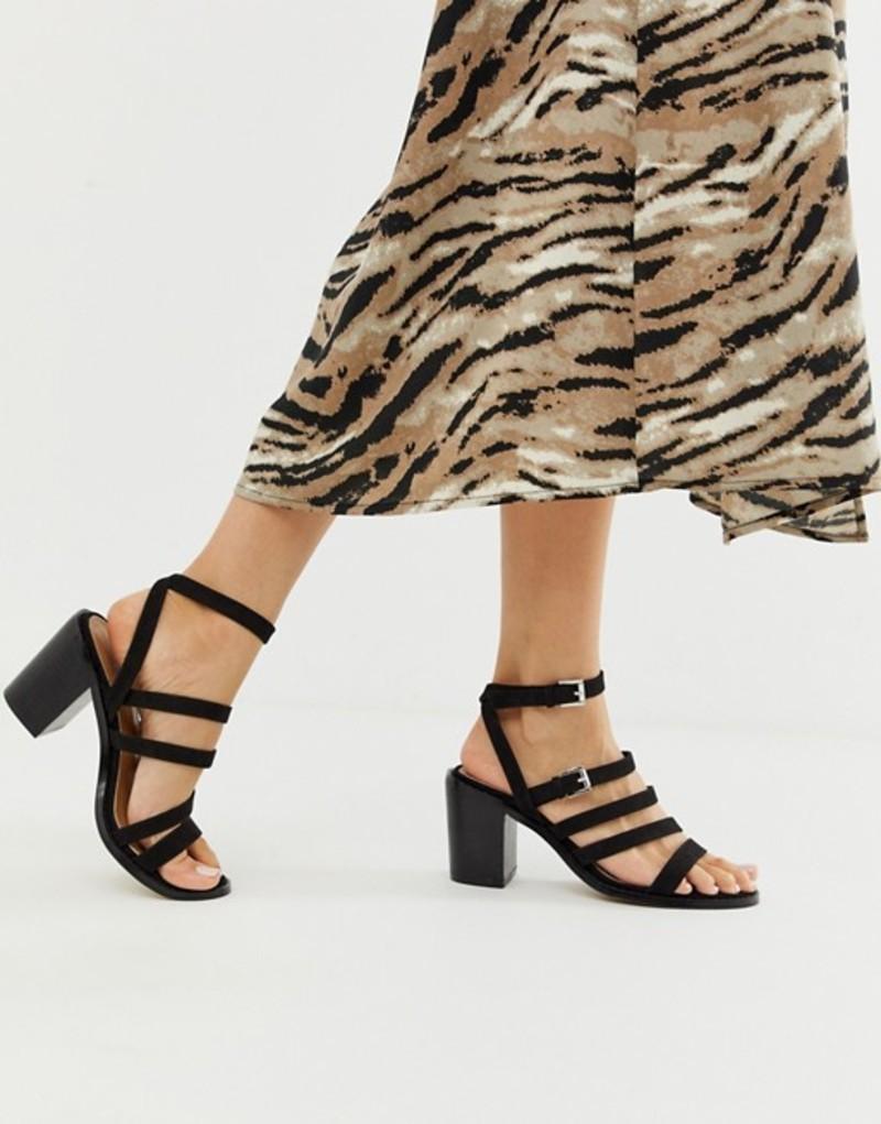 エイソス レディース ヒール シューズ ASOS DESIGN Tycoon heeled sandals Black