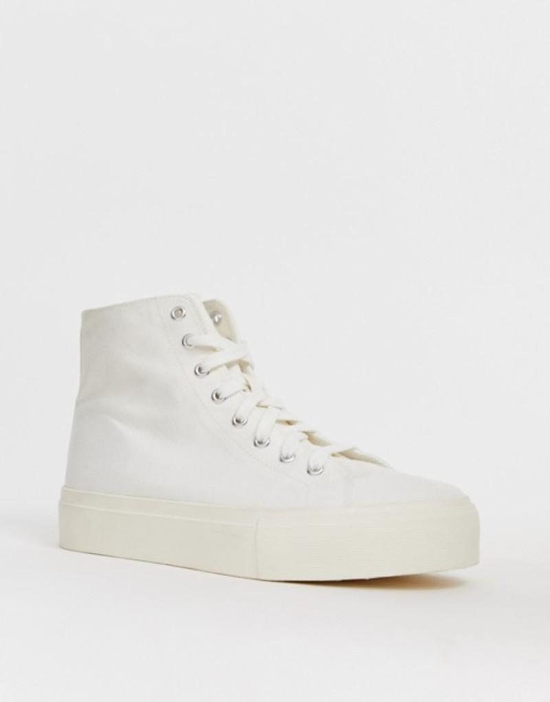 エイソス レディース スニーカー シューズ ASOS DESIGN Dakota chunky hi top sneakers Off white