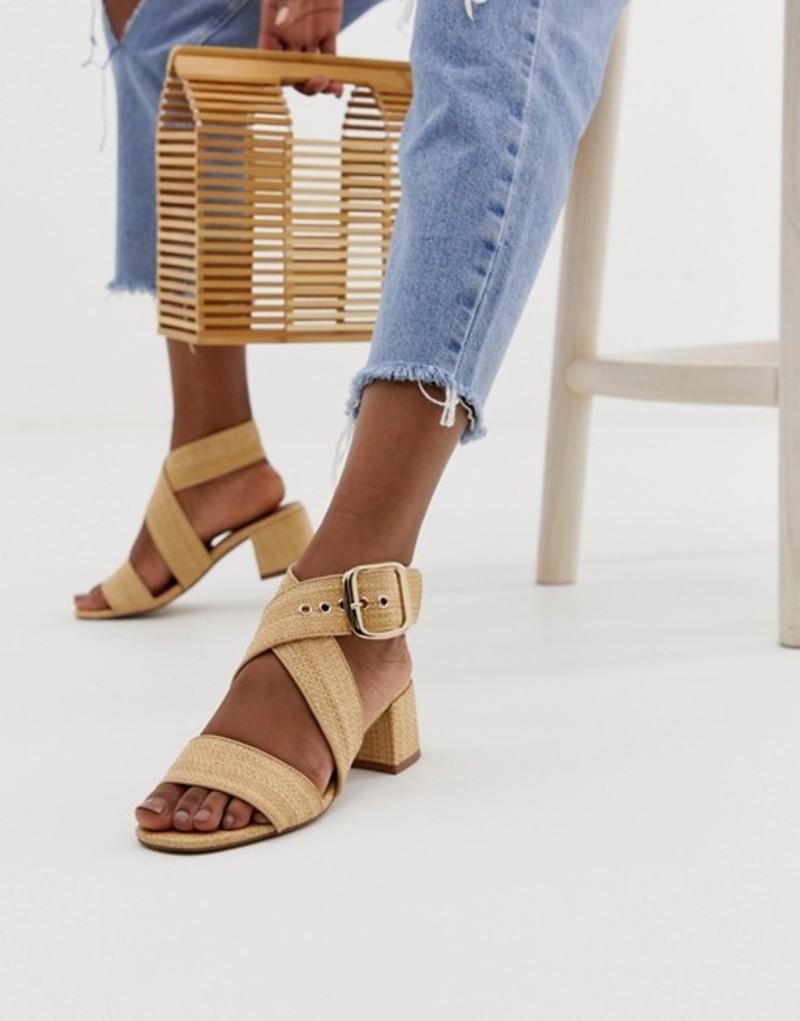 エイソス レディース サンダル シューズ ASOS DESIGN Hip Hop block heeled sandals in natural Natural