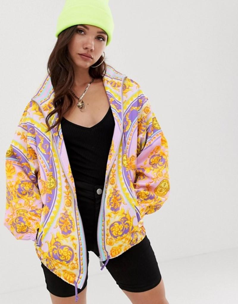 エイソス レディース ジャケット・ブルゾン アウター ASOS DESIGN scarf printed bomber jacket Multi