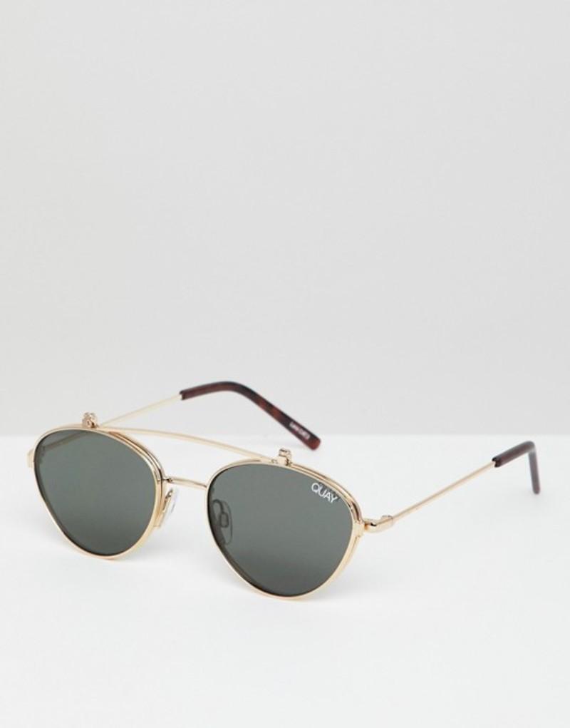 クアイオーストラリア メンズ サングラス・アイウェア アクセサリー Quay Australia X Elle Ferguson Elle round sunglasses in gold Gold