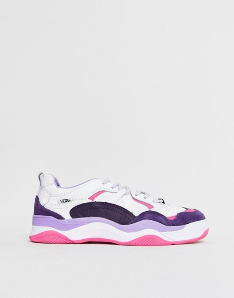 バンズ レディース スニーカー シューズ Vans Varix WC white and purple sneakers White