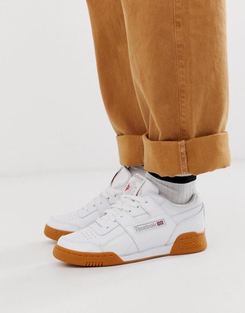 リーボック レディース スニーカー シューズ Reebok Classic Workout sneakers with gum sole White