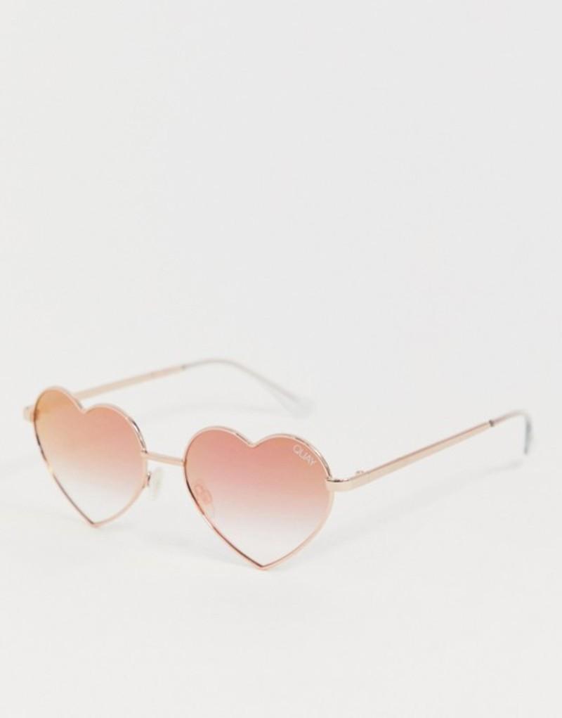 クアイオーストラリア メンズ サングラス・アイウェア アクセサリー Quay Australia heart breaker sunglasses in rose gold Pink