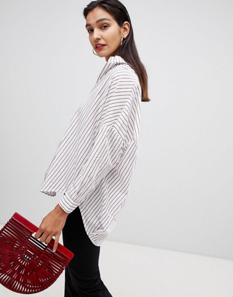 フレンチコネクション レディース シャツ トップス French Connection Oversized StripeD Shirt Winter white