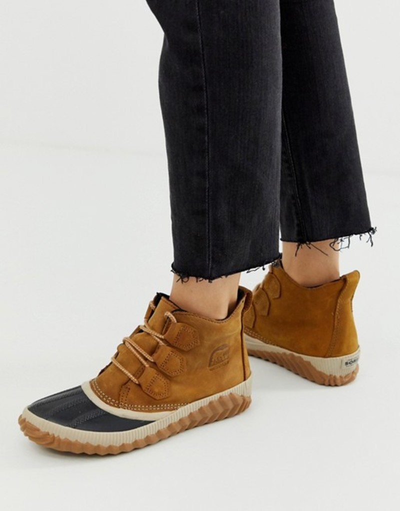 ソレル レディース ブーツ・レインブーツ シューズ Sorel Out N About Plus camel leather lace up ankle boots Camel