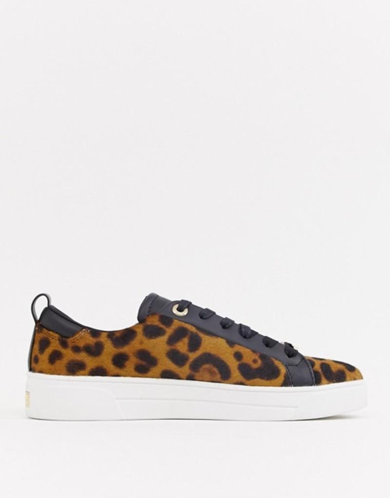 テッドベーカー レディース スニーカー シューズ Ted Baker leopard pony sneakers Leopard