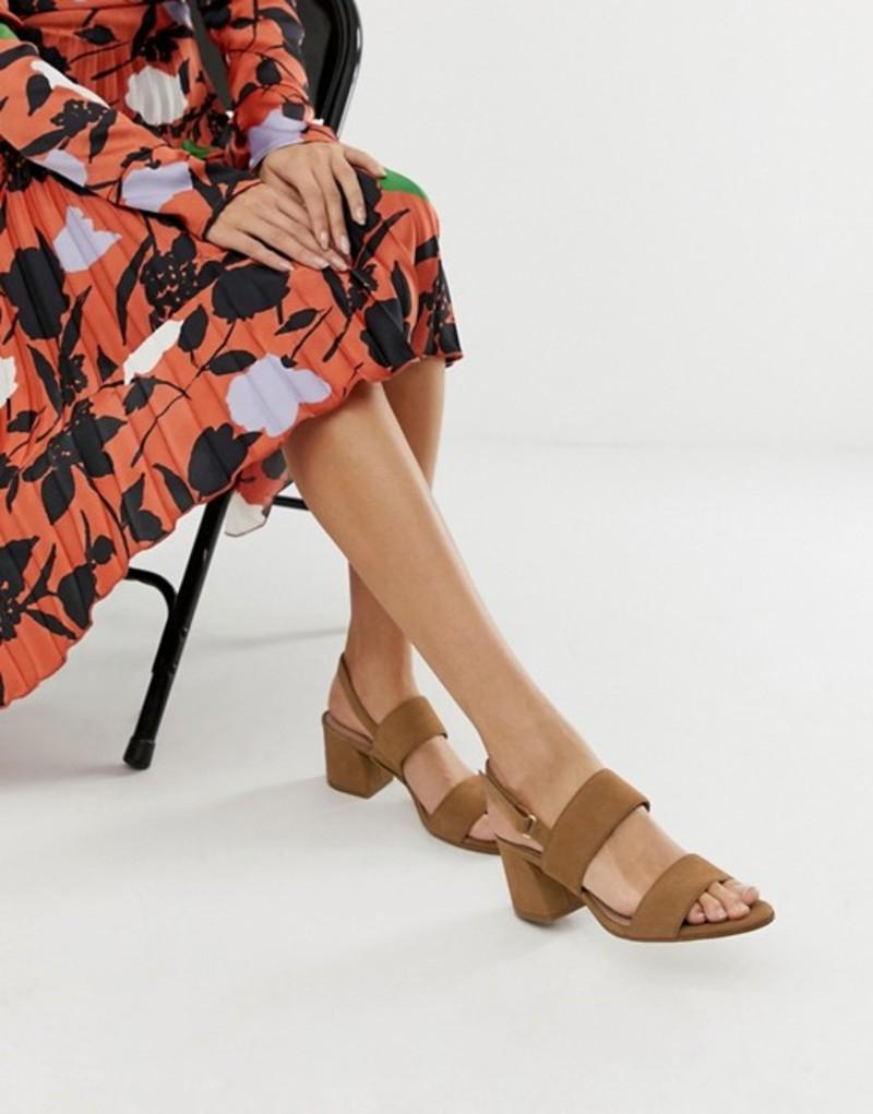 アルド レディース ヒール シューズ ALDO Arievia suede flared block heeled sandals in camel Camel suede