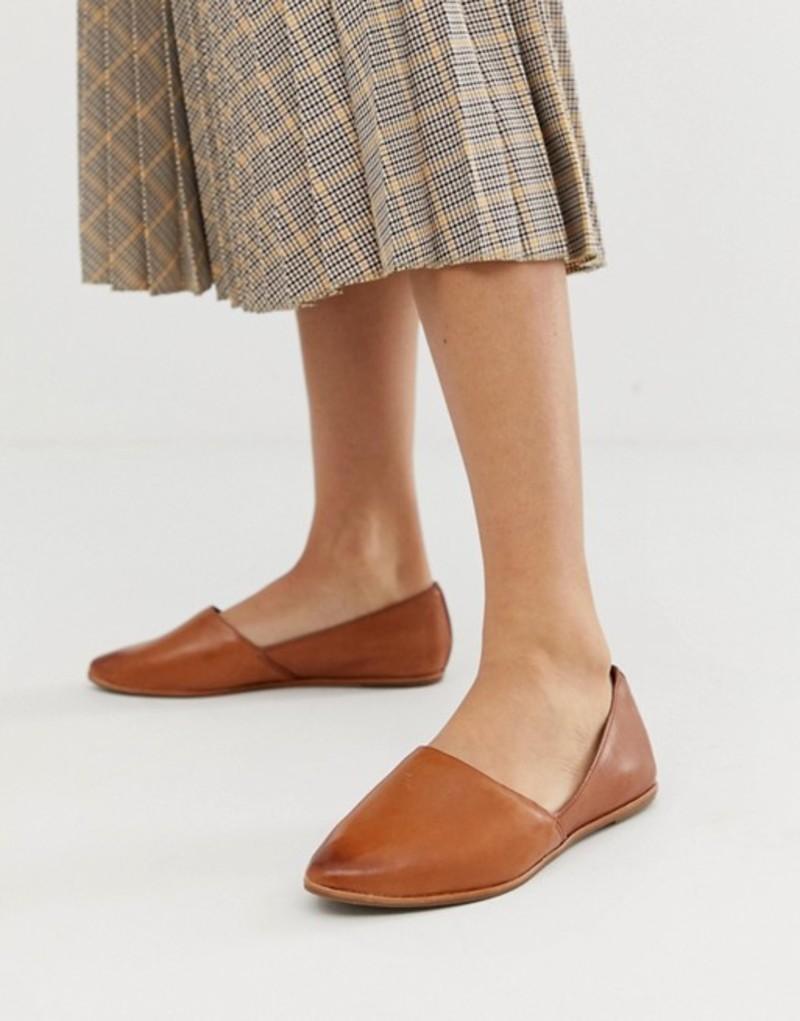 アルド レディース パンプス シューズ ALDO Blanchette leather flat shoes in tan Tan leather