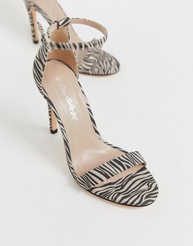 ミスセルフフリッジ レディース ヒール シューズ Miss Selfridge barely there sandal in zebra print Zebra
