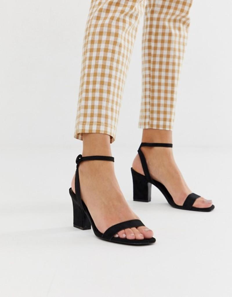 マンゴ レディース サンダル シューズ Mango two part mid sandals in black Black