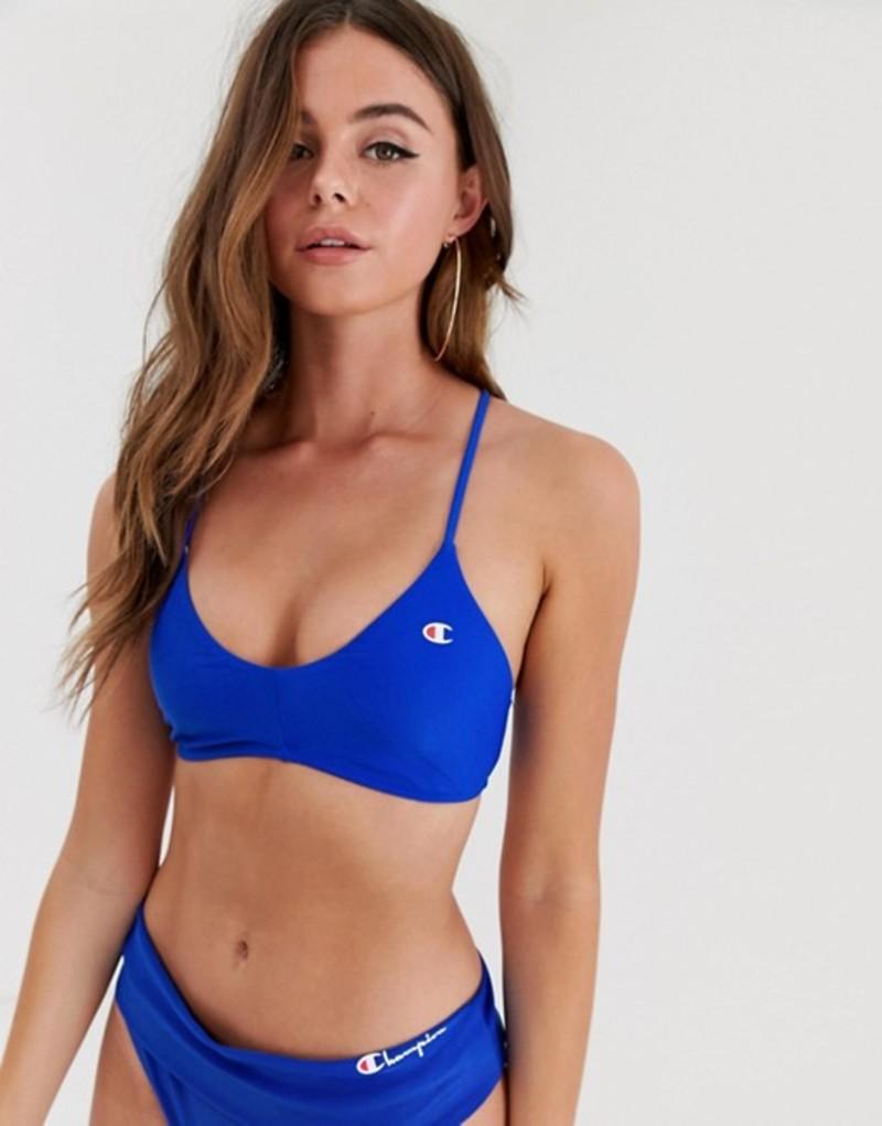 チャンピオン レディース トップのみ 水着 Champion logo bikini top in navy Navy