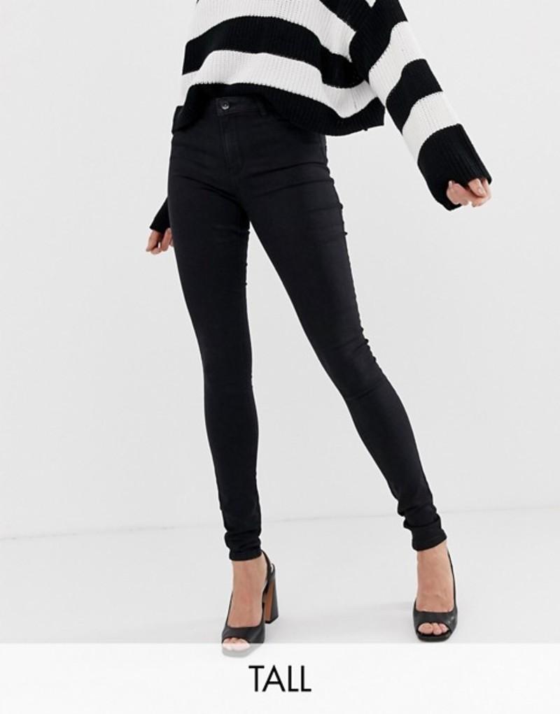 ベロモーダ レディース デニムパンツ ボトムス Vero Moda Tall skinny jean in black Black