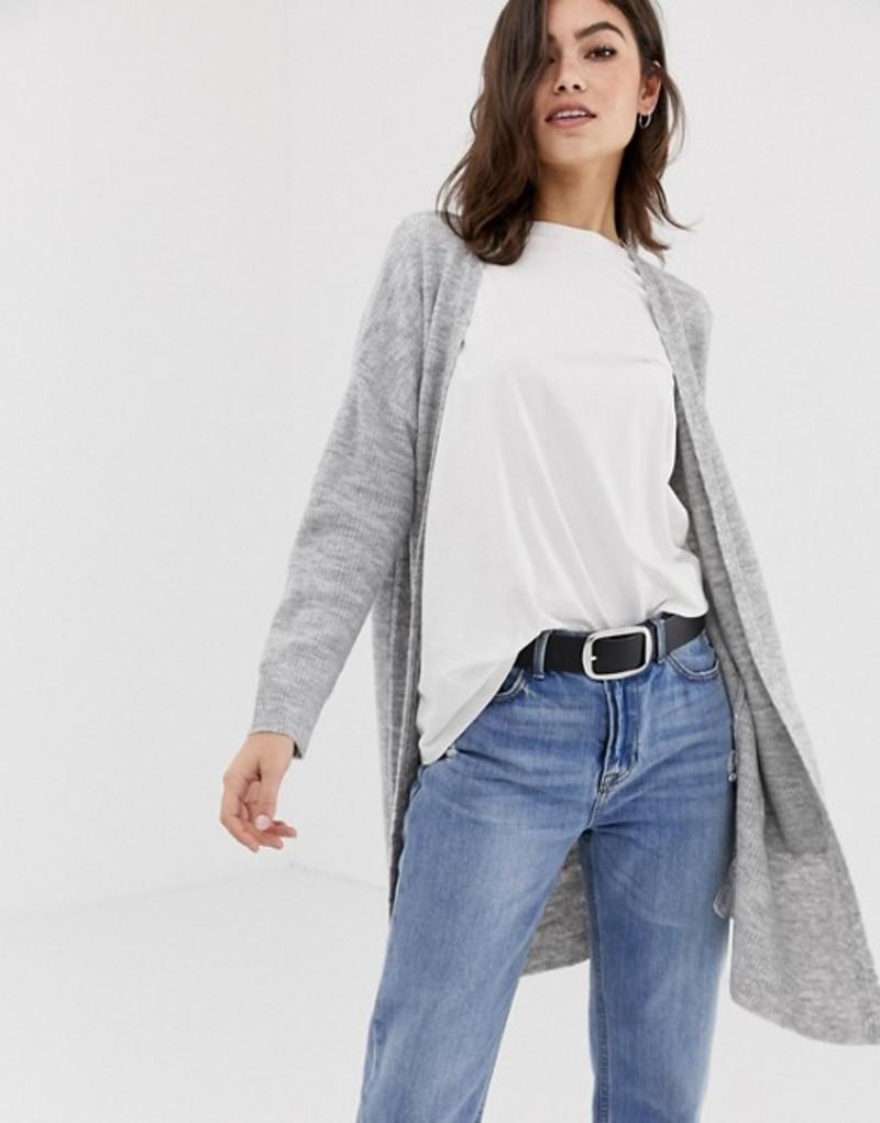 オアシス レディース カーディガン アウター Oasis longline cardigan in gray Mid grey
