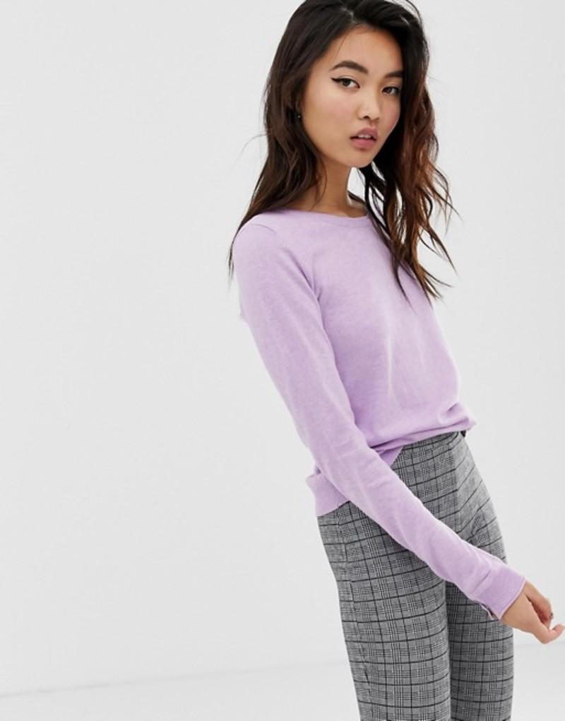 エスプリ レディース ニット・セーター アウター Esprit crew neck lightweight sweater in lavender Lavender
