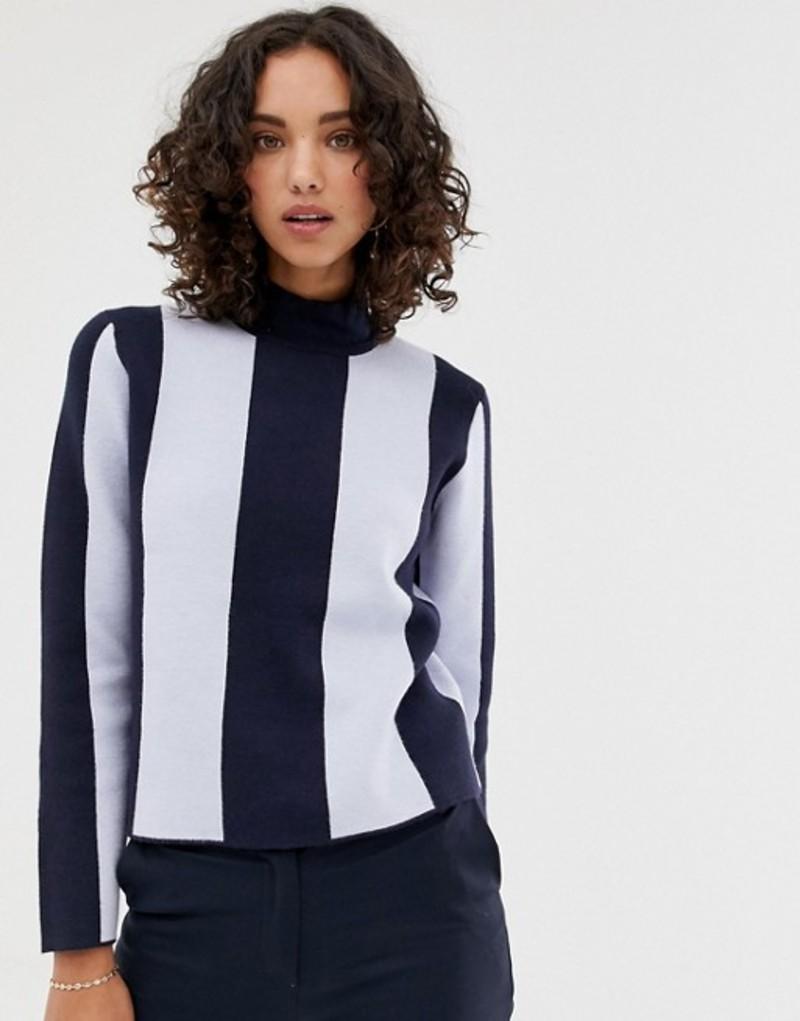 セレクティッド レディース ニット・セーター sapphire アウター stripe Selected Femme compact knit Dark sweater Dark sapphire stripe, アロール21:b70dce64 --- itxassou.fr