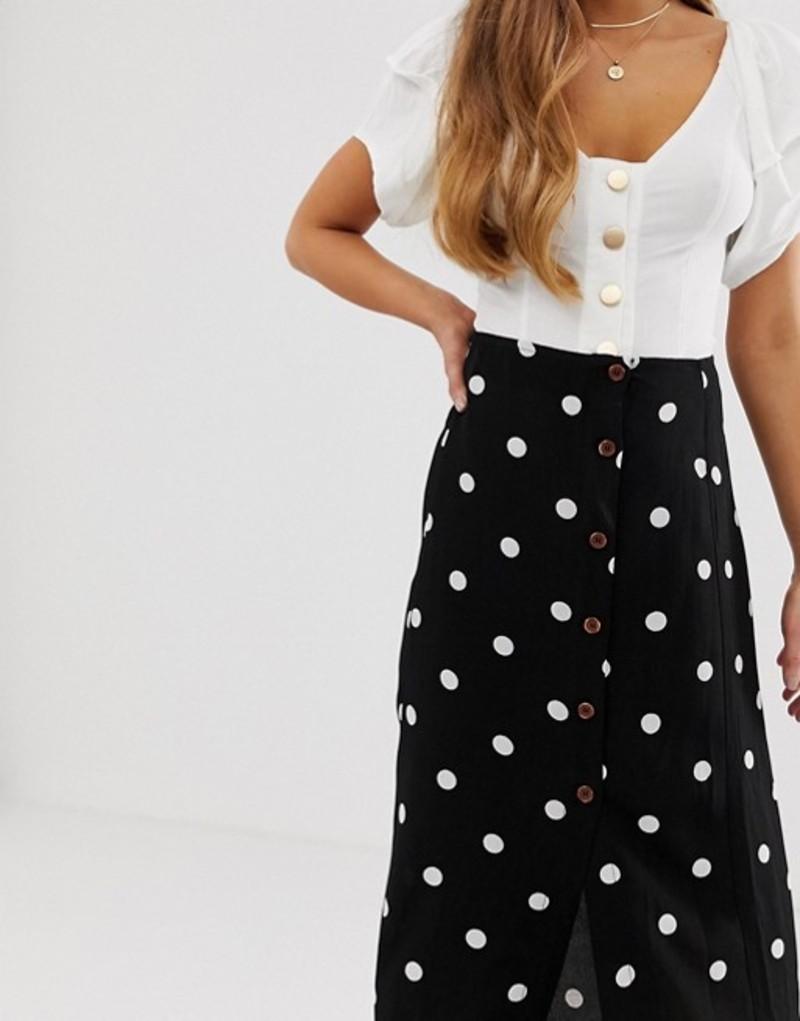 547c52201f830e スカート Free people retro love midi skirt Black and white comb ボトムス フリーピープル  レディース