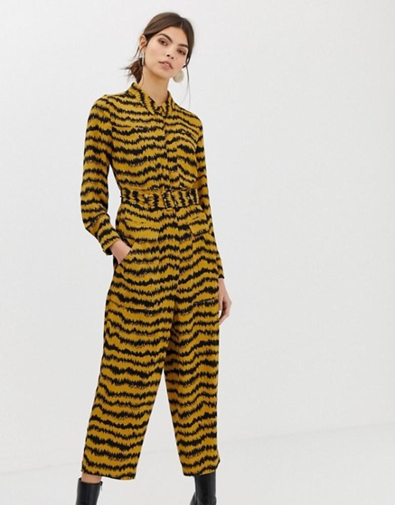 ホイッスルズ レディース ワンピース トップス Whistles Limited Milla jumpsuit in animal print Brown/multi