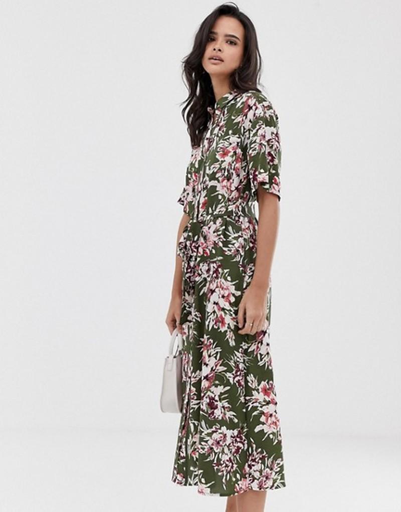 フレンチコネクション レディース ワンピース トップス French Connection floral shirt midi dress Cactus multi