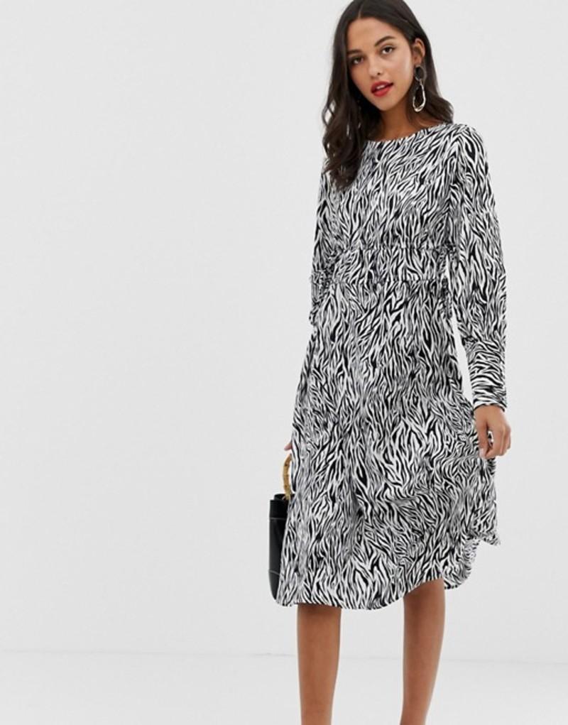 ヴィラ レディース ワンピース トップス Vila zebra print midi dress Multi