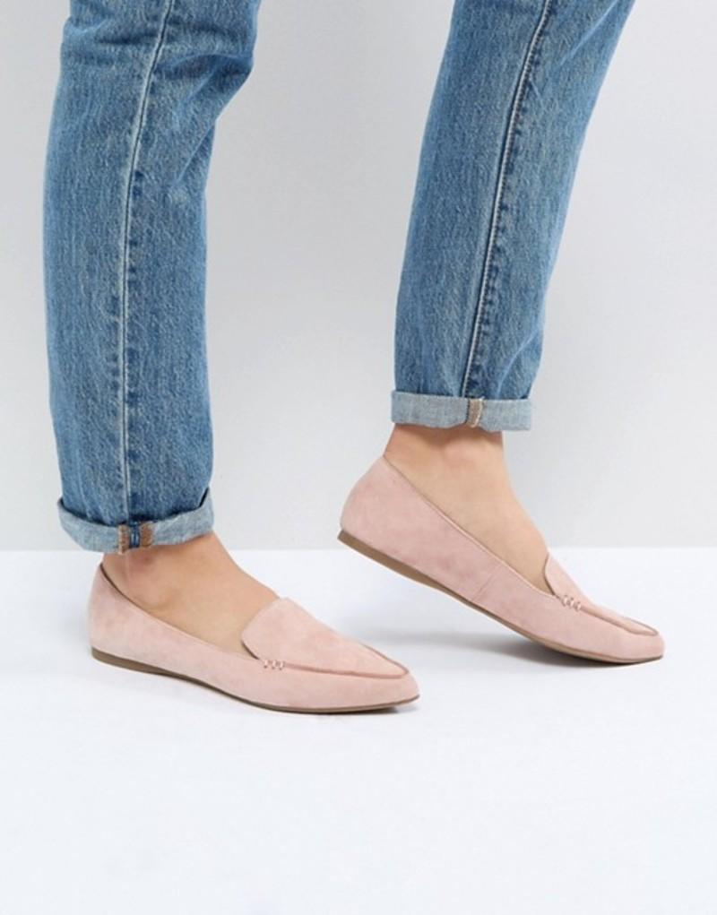 スティーブ マデン レディース パンプス シューズ Steve Madden Feather Rose Suede Flat Shoes Rose suede