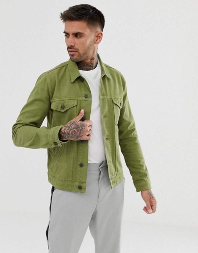 エイソス メンズ ジャケット・ブルゾン アウター ASOS DESIGN denim jacket in light khaki Khaki