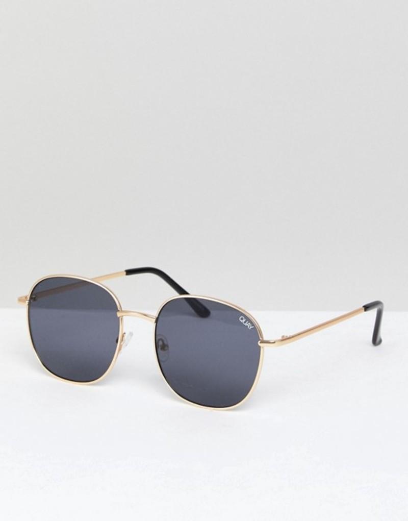 クアイオーストラリア メンズ サングラス・アイウェア アクセサリー Quay Australia Jezabell round sunglasses in gold/smoke Black