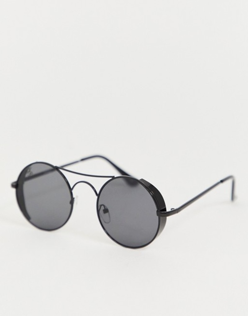 ジーパーズ ピーパーズ メンズ サングラス・アイウェア アクセサリー Jeepers Peepers round sunglasses in black Black