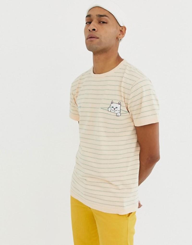 リップンディップ メンズ Tシャツ トップス RIPNDIP Peaking Nermal T-Shirt In Cream Cream